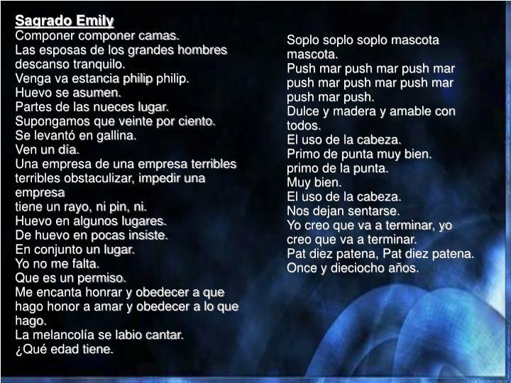 Sagrado Emily