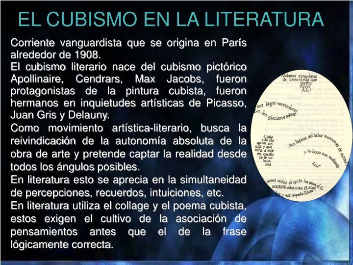 EL CUBISMO EN LA LITERATURA