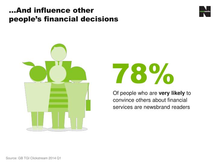 …And influence other people's financial decisions