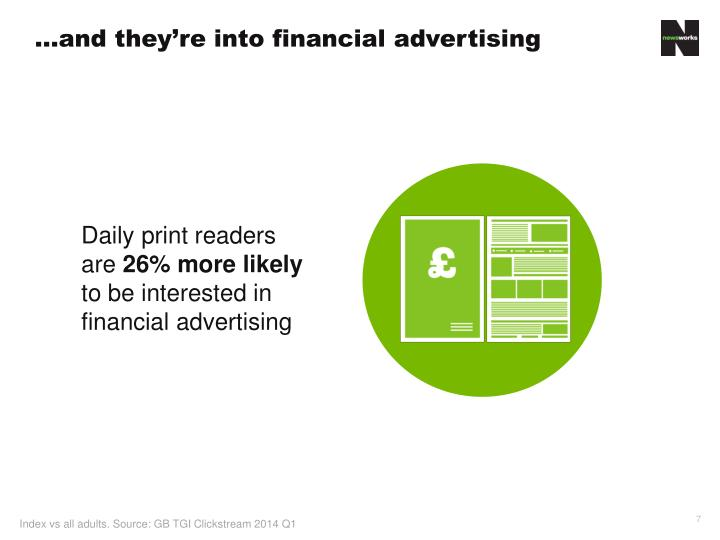 …and they're into financial advertising
