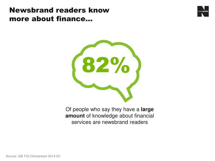 Newsbrand readers know more about finance…
