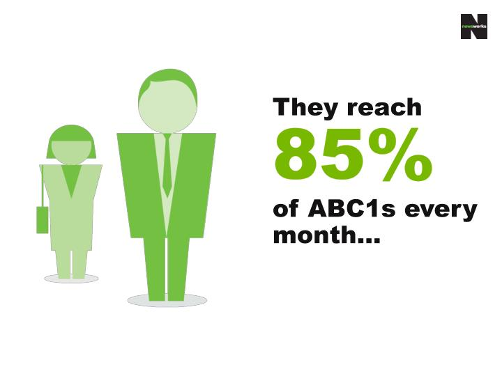 They reach 85 of abc1s every month