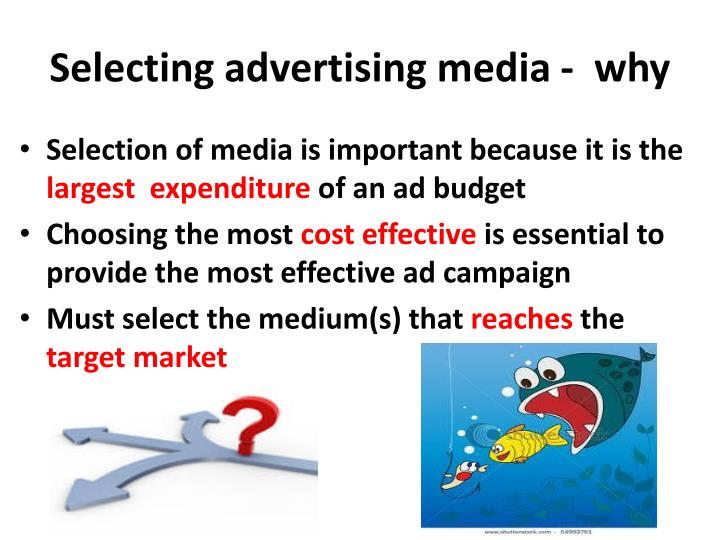 Selecting advertising media -  why
