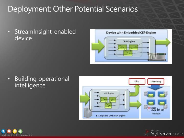 Deployment: Other Potential Scenarios