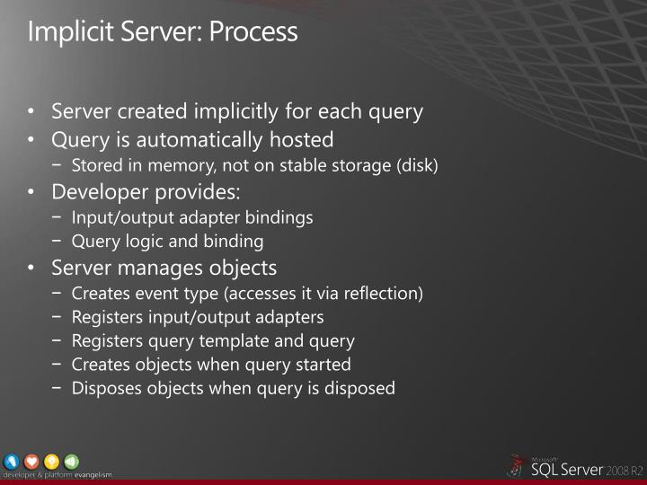 Implicit Server: Process
