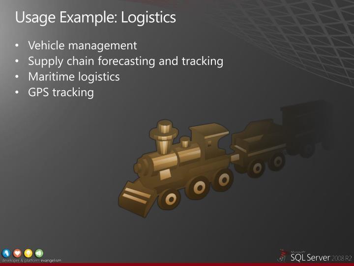 Usage Example: Logistics
