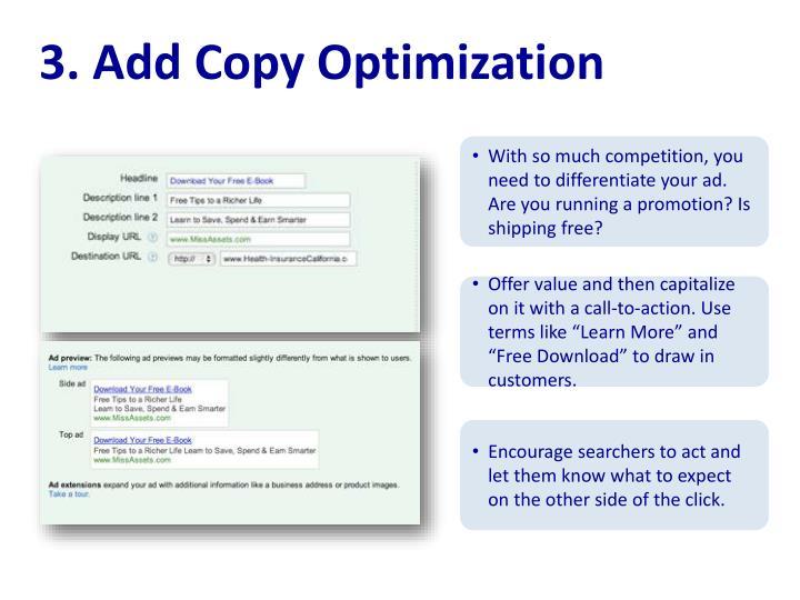 3. Add Copy