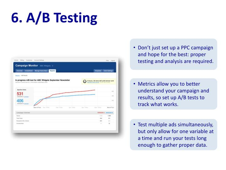 6. A/B Testing