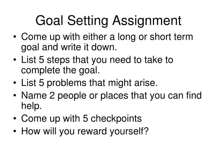 Goal Setting Assignment