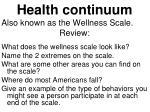 health continuum