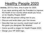 healthy people 20201