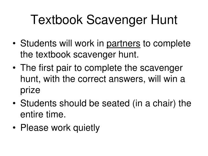 Textbook Scavenger Hunt