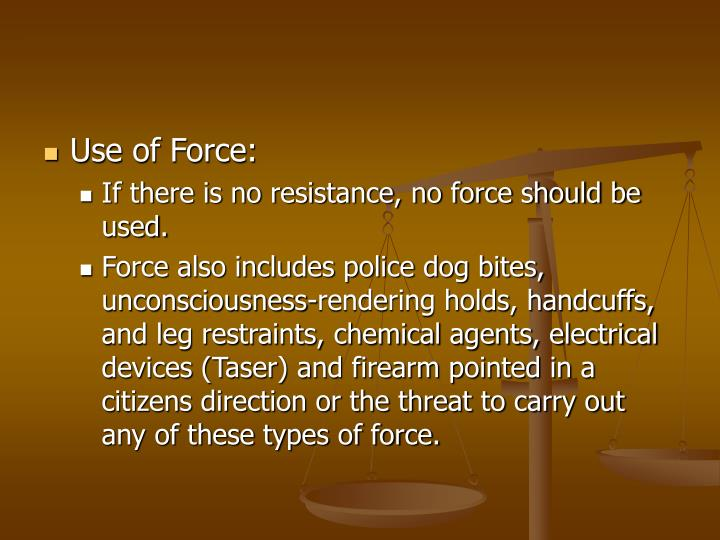 Use of Force:
