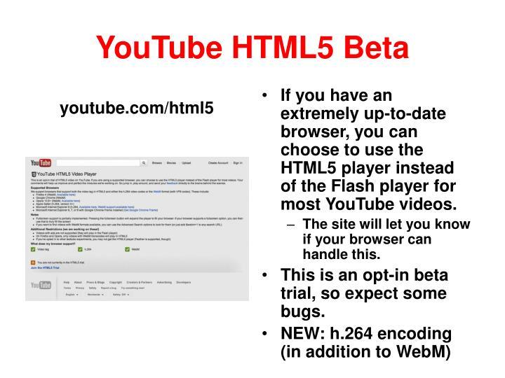 YouTube HTML5 Beta