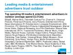 leading media entertainment advertisers trust outdoor