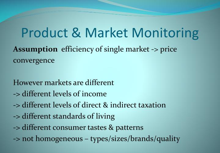 Product & Market Monitoring