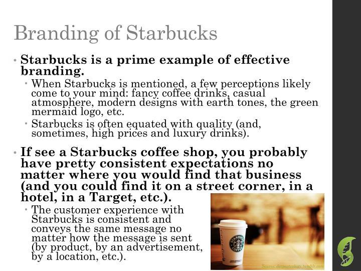 Branding of Starbucks