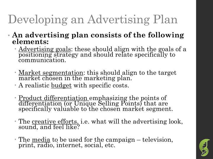 Developing an Advertising Plan