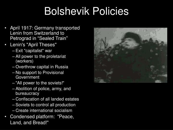 Bolshevik Policies