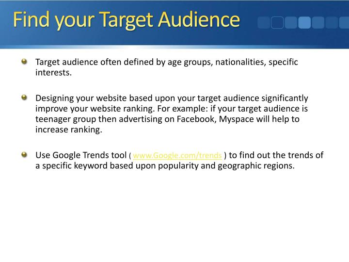 Find your Target Audience