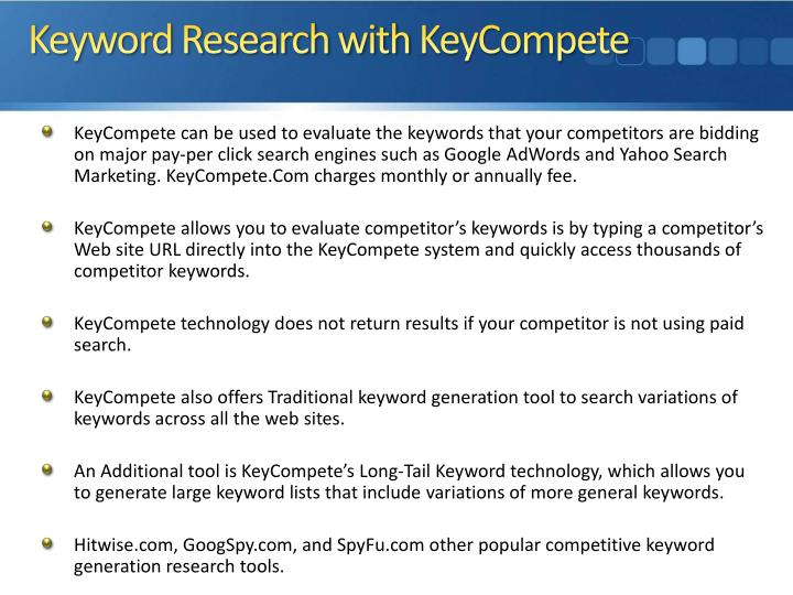 Keyword Research with