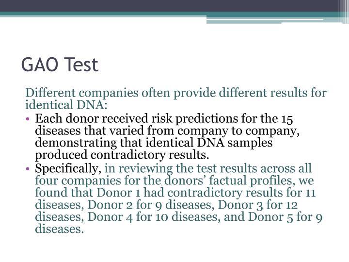 GAO Test