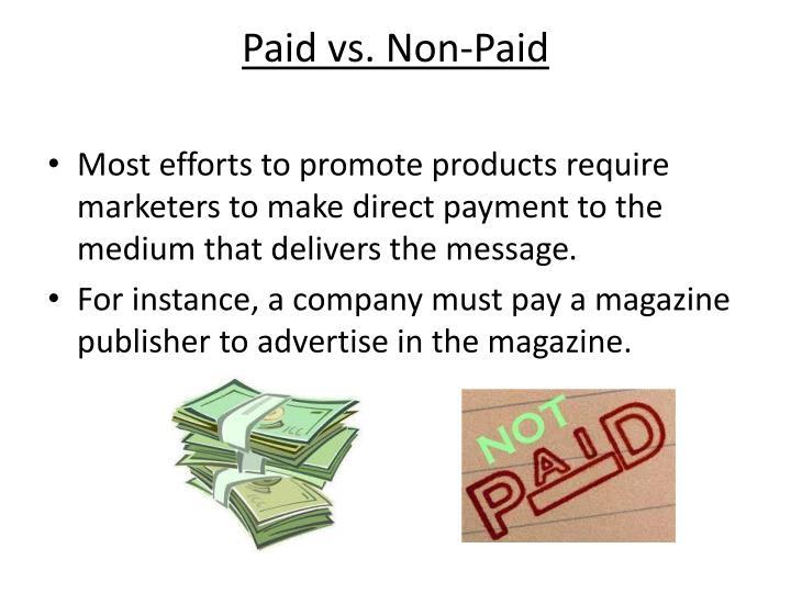 Paid vs. Non-Paid