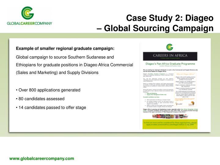 Example of smaller regional graduate campaign: