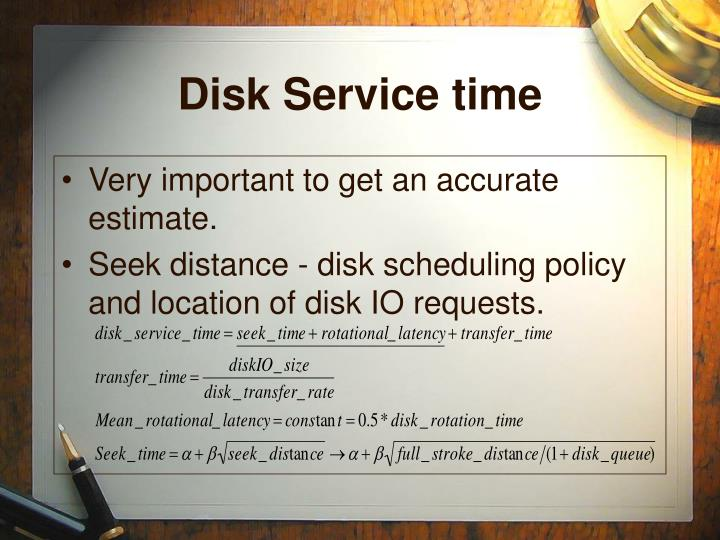 Disk Service time