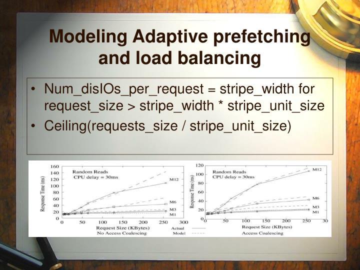 Modeling Adaptive prefetching and load balancing