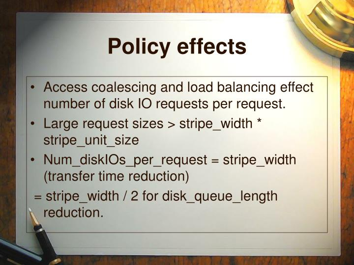 Policy effects