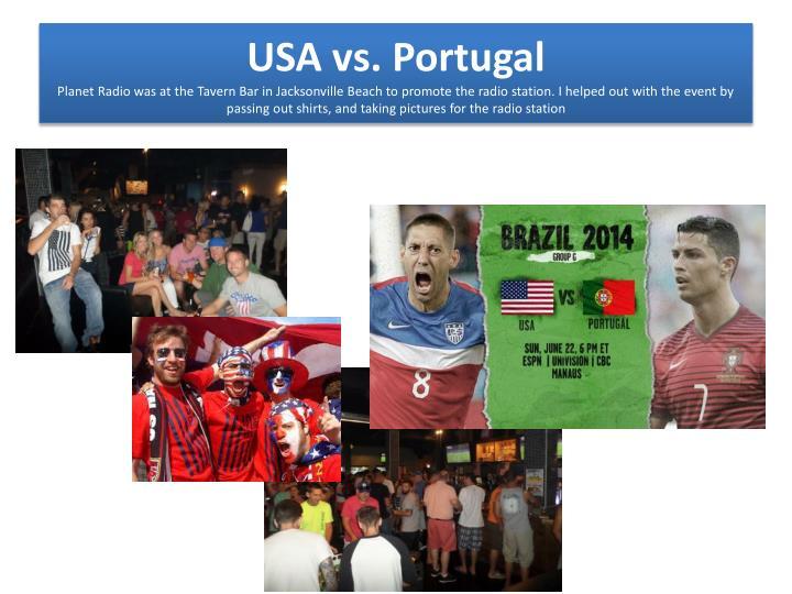 USA vs. Portugal