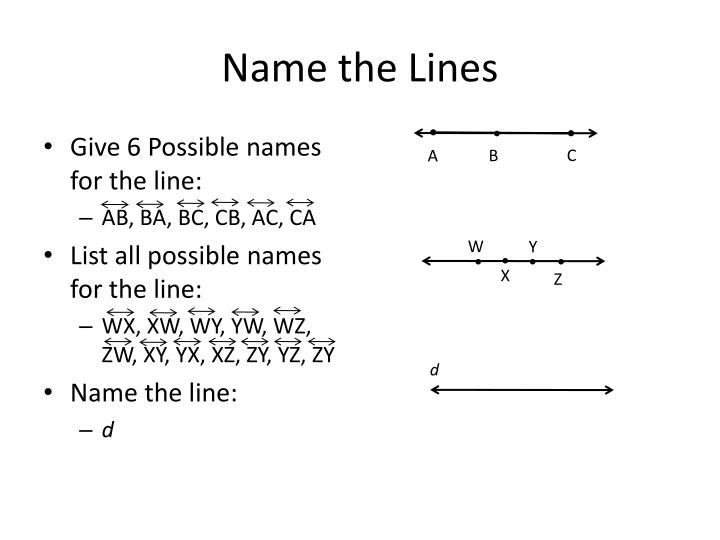 Name the Lines