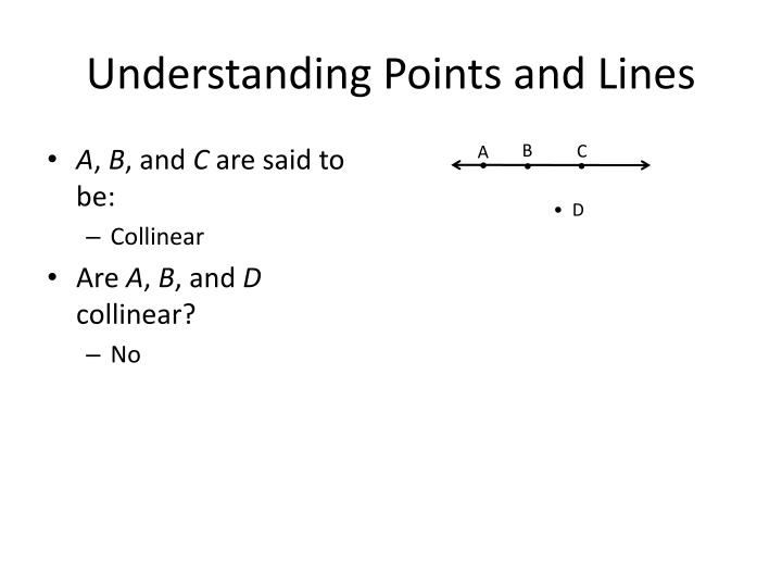 Understanding Points and Lines