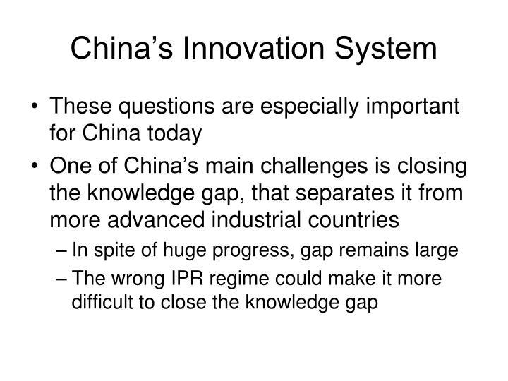 China's Innovation System