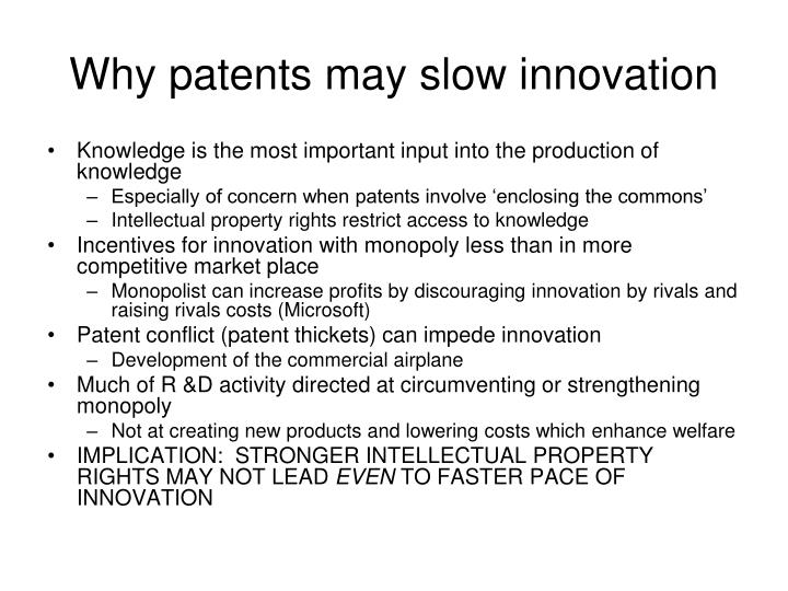 Why patents may slow innovation