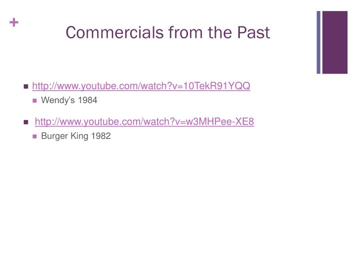 Commercials from the Past