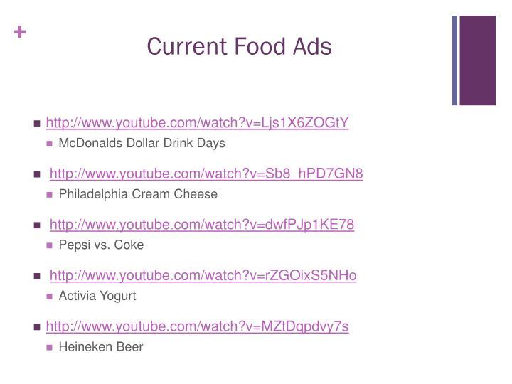 Current Food Ads