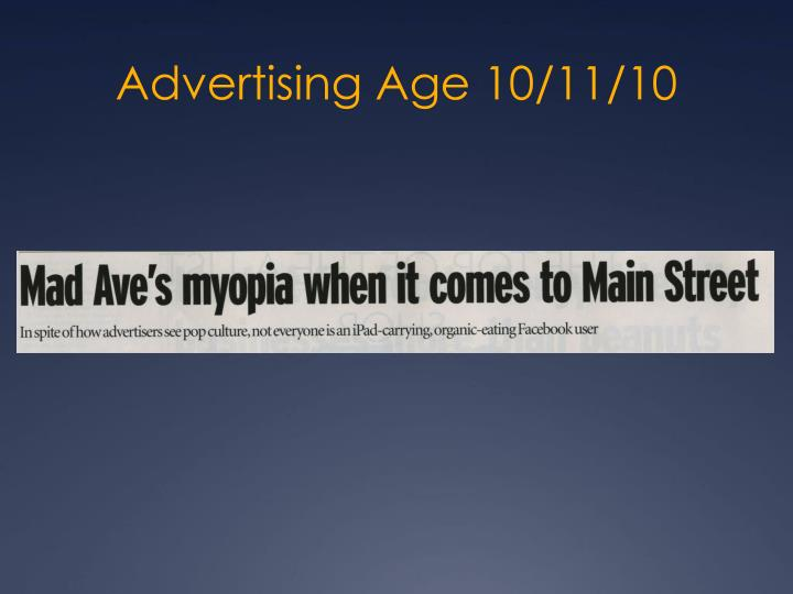 Advertising Age 10/11/10