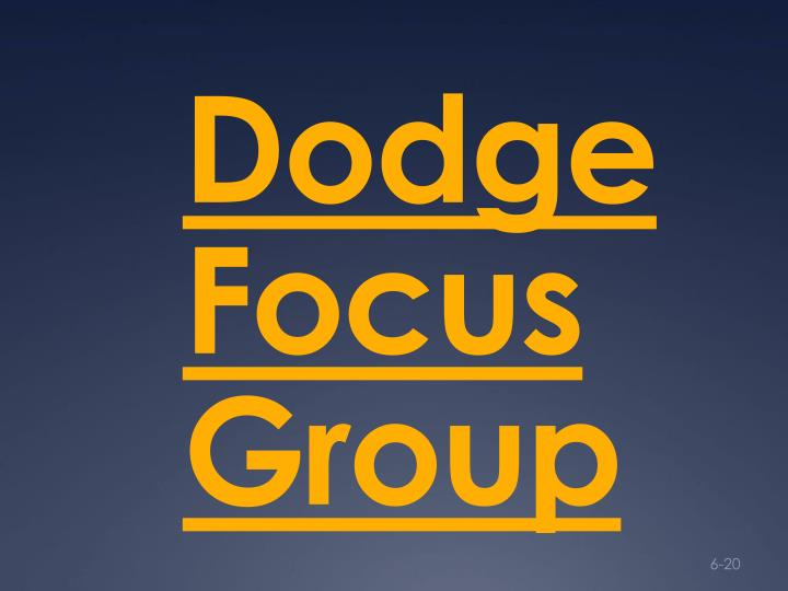 Dodge Focus Group