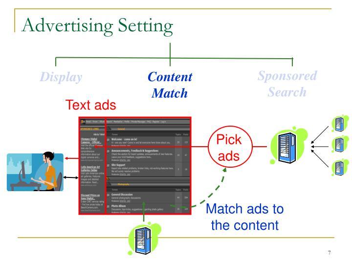 Advertising Setting