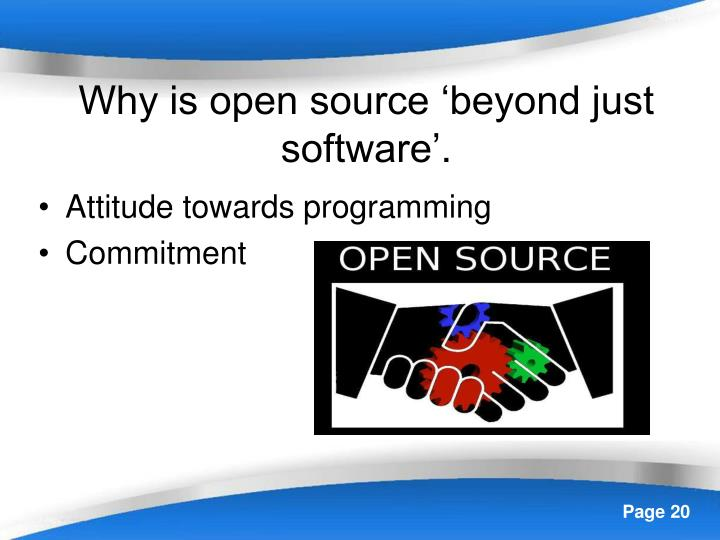 Why is open source 'beyond just software'