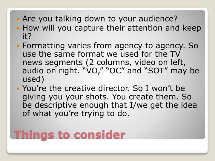 Are you talking down to your audience?