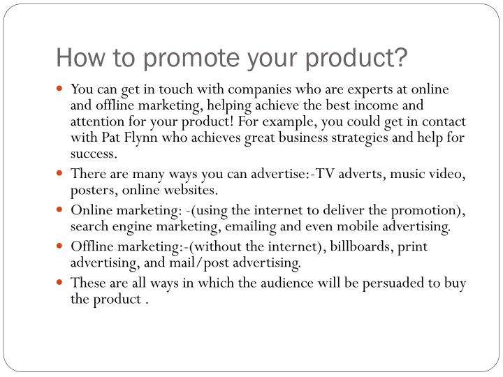 How to promote your product?