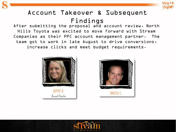 Account Takeover & Subsequent Findings
