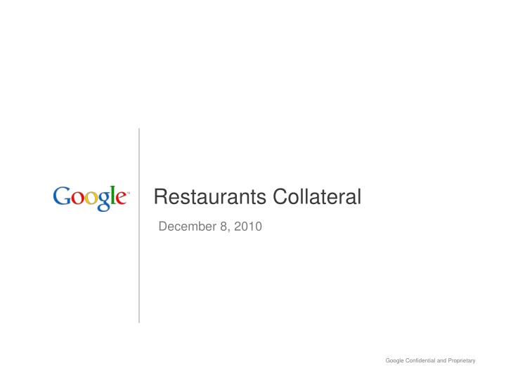 Restaurants collateral