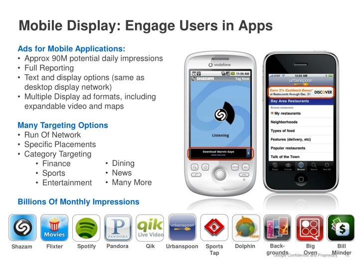 Mobile Display: Engage Users in Apps