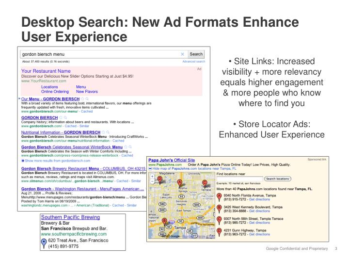 Desktop Search: New Ad Formats