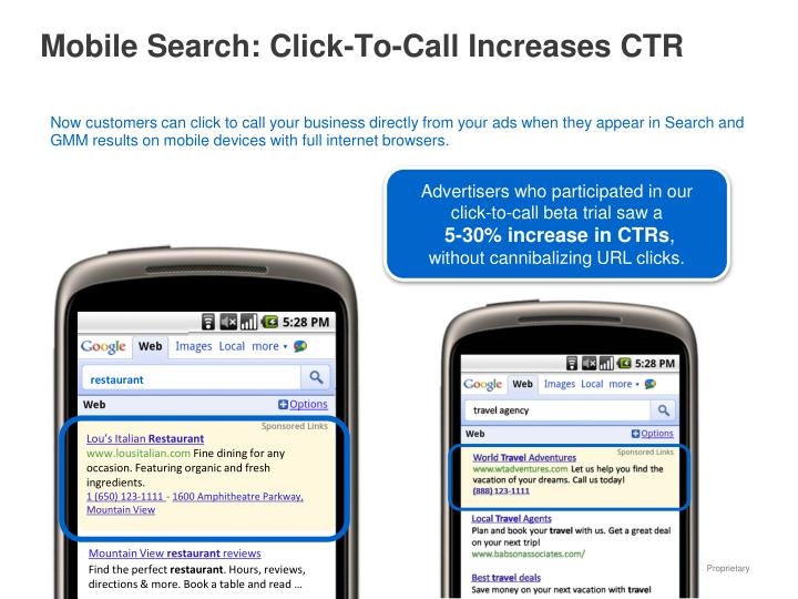 Mobile Search: Click-To-Call