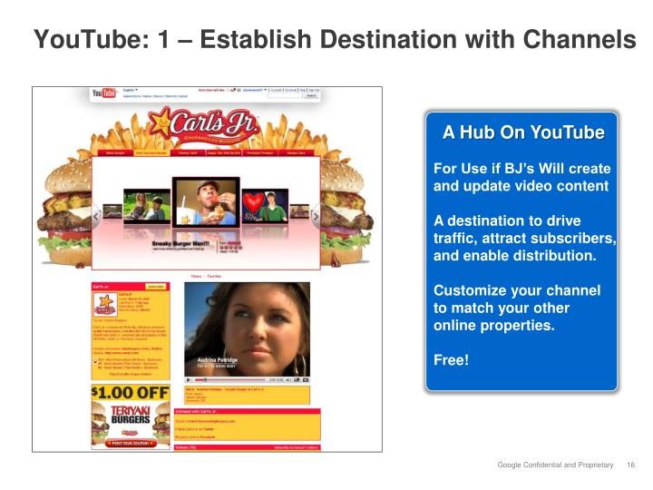 YouTube: 1 – Establish Destination with Channels